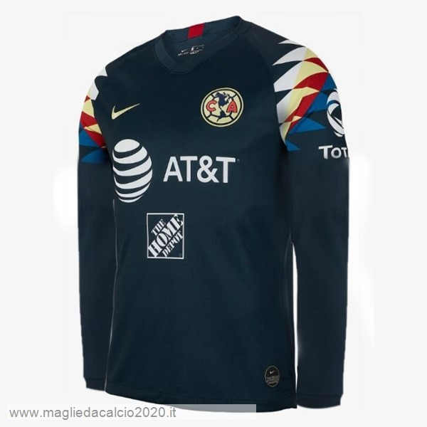 Away Manica lunga Club América 2019 2020 Blu Navy Tutto Maglie Calcio